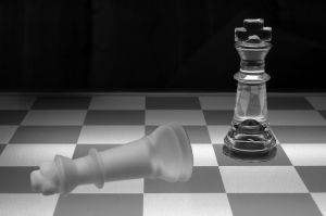 chess game, king has fallen